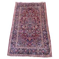 Persian Iranian kashan 6.10x4.5 circa 1970'S Oriental rug