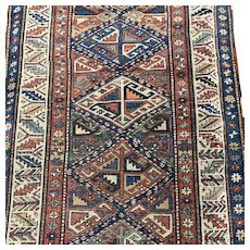 Kazak Oriental rugs 1920'S 7x3.5