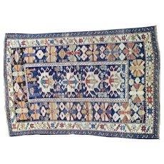 Caucasion oriental rugs 4.5x3.1 circa1910's