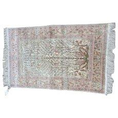 Silk oriental rug 3x5