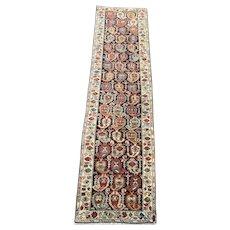 Kurdish caucasion Malayer 2.1x7,7 Oriental rugs reduced size top /&bottom circa 1920's