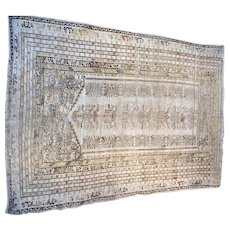 Turkish Kaisari oriental rug 5.9x4.2 circa 1900,s prayer