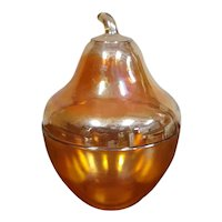 Carnival Glass Pear Shaped Covered Dish