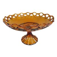 Lancaster Colony Amber Compote