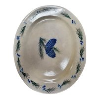 Rowe Pottery Pine Cone Design Oval Platter