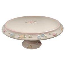 Vintage Pfaltzgraff Tea Rose Pedestal Cake Plate