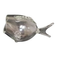 Blenko Style Mid-Century Modern Blown Glass Fish