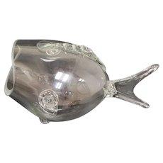 Blenko Style Mid-Century Modern Blown Glass Fish