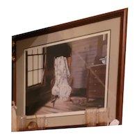 "Original Lithograph by Wayne Waldron ""Grandma's Quilt"" 1288/1500"