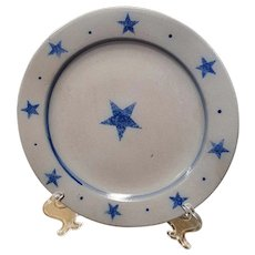 Rowe Pottery Star Pattern Dinner Plate