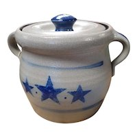 Rowe Pottery Star Pattern Bean Pot
