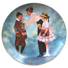 """1984 Norman Rockwell Plate """"First Day of School"""" from the Days to Remember Collection"""