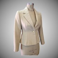 Rare Norman Norell timeless off-white tailored blazer