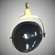 Antique Victorian Natural Chestnut and gold fill pendant