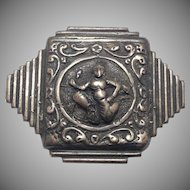 Beautiful Vintage Sterling Silver Ganesh Pin by Guglielmo Cini