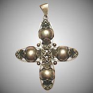 Vintage Norwegian silver cross pendant by FH830S
