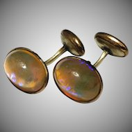 Antique Victorian Dragons Breath Gold Filled Cuff links