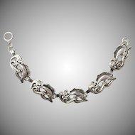 Vintage 1960s Signed Ella Cone Sterling Silver American Modernist Swordfish Bracelet