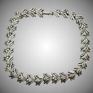 Rare Vintage Rebajes articulated Silver Necklace