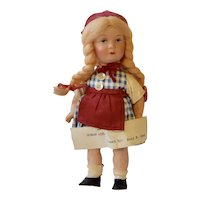 Composition doll dressed as a German Girl,8 inches