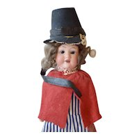AM 390 Bisque Head Doll as Welch Boy, 11 inches