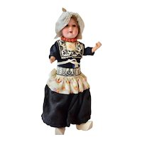 Armand Marseille 390 German Bisque Doll in Vollendam Costume, 8 1/2 inches