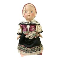 Doll dressed in Slovakian Costume, 12 inches