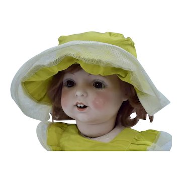 Fulper Character Baby Doll with Bisque Head, 17 inches