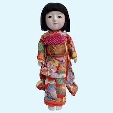 Ichimatsu Japanese Doll with beautiful kimono, 16 inches