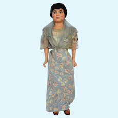 Composition and Cloth Doll in Costume of the Filipino Islands, 20 inches