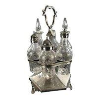 Earlier Antique Victorian Silverplate Dinner Castor Set F. CURTIS (Hartford CT) Manufacturing Circa 1850