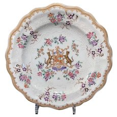 Samson Famille Rose Armorial Plate, Late 19th C