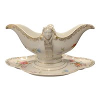 """Rosenthal Porcelain """"Empire"""" Gravy Boat with Attached Underplate"""