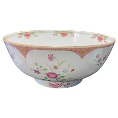 Chinese Export Famille Rose Punch Bowl Ca. 1770