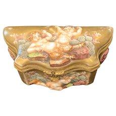 Capodimonte Snuff Box, 19th C