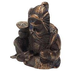 Bronze Chinese Chop of Warrior
