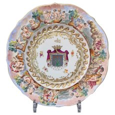 Capodimonte Display Plate, Late 19th C