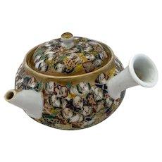 Japanese Meiji 1000 Faces Kyusu Teapot