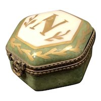 French Porcelain Hand Painted Dresser Box