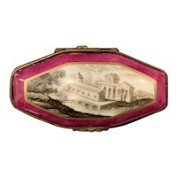 19th C Continental Porcelain Metal-Mounted Dresser Box