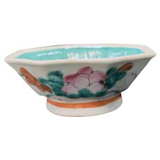 Chinese Export Porcelain Famille Verte Sauce Bowl, 19th C
