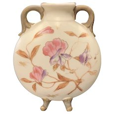Carlsbad Hand Painted Porcelain Footed Vase