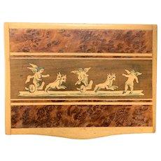 19th C Victorian Burled Walnut Snuff Box