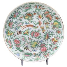 Two 2 Chinese Export Famille Rose Soup Plates