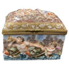 Capodimonte Treasure Box, Late 19th C
