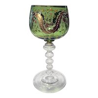 Moser Enamel & Gilt Decorated Chalice, Early 20th C