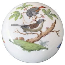"""Herend """"Rothschild Bird"""" Covered Dresser Box"""