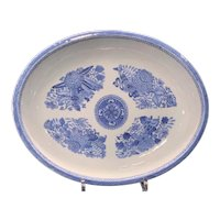 Chinese Export Fitzhugh Oval Serving Platter Ca. 1810