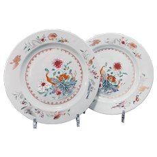 Two Chinese Export Famille Rose Plates Ca. 1760