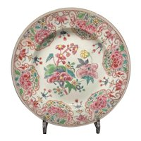 Chinese Export Famille Rose Plate Ca. 1750
